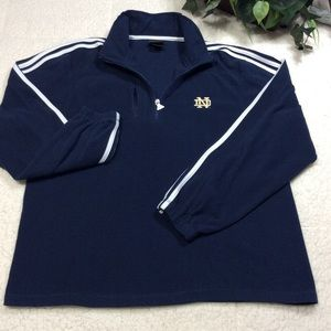 Adidas Half Zip Three Striped Sleeves Pullover M